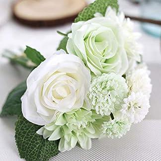 OQAJFQJA 1 Pieza Mezcla Y Combinación De Combinación Hermosa Novia Mano Flor Decoración De La Boda Dalia Filigrana Artificial Rosa Falso Clavel