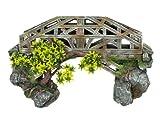 Nobby 28388 Aquarium Dekoration Aqua Ornaments Brücke mit Pflanzen