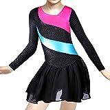 Leotardos gimnásticos para niñas Faldas largas sin mangas con arco iris y falda de tul de ballet