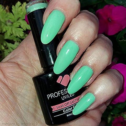 * 182* VB linea mentolo Verde brillante Colore smalti UV/LED