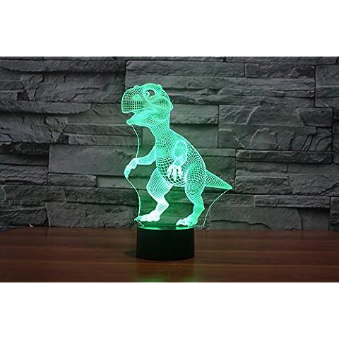 BAMINJI 3D visualización increíble resplandor lámpara de noche-bombilla de luz LED - arte escultura luces para arriba en produce únicos dibujos animados efectos de iluminación y visualización en 3D increíble ilusión óptica siete colores transforman