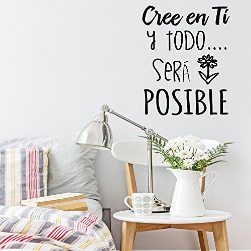 Frase vinilo cree en ti y todo ser posible vinilos for Vinilos pared frases