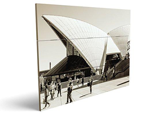 Theater, qualitatives MDF-Holzbild im Drei-Brett-Design mit hochwertigem und ökologischem UV-Druck Format: 100x70cm, hervorragend als Wanddekoration für Ihr Büro oder Zimmer, ein Hingucker, kein Leinwand-Bild oder Gemälde (70's Workout Kostüm)