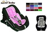 Sweet Baby ** SLEEPY Auto-Sitzverkleinerer / NeugeborenenEinsatz Antiallergikum LITTLE STARS ** Passend für Babyschalen Gr. 0/0+ und Gr. 1 ** Ideal auch für Maxi Cosi, Cybex etc. sowie Kinderwagen, Babywanne etc. (Rosa)