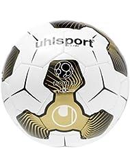 Uhlsport Liga 2balón de entrenamiento blanco/negro/oro, tamaño 5