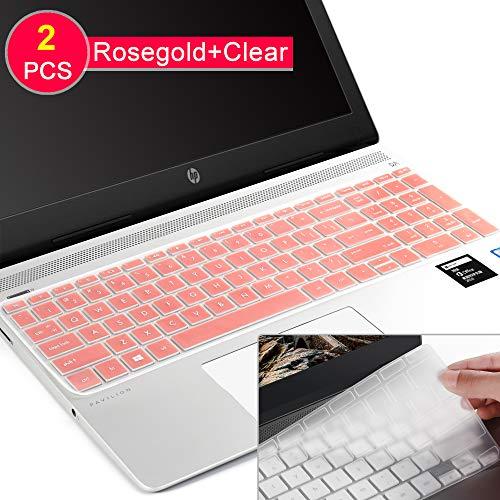 Tastatur-Abdeckung für HP Envy 17 Series/HP Notebook 17t 17-BS 17-BW 17-CA 17-by,HP Pavilion X360 15m-bp/bq,HP Spectre x360 15-ch011dx,Pavilion 15-cb 15-cc 15-cd 15-cd 15-bw 15-BBS Rosegold (Skins Für Hp Pavilion X360)