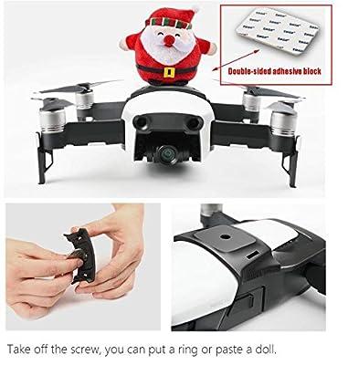 Kismaple for DJI Mavic Air Drone Multifunction Adapter Bracket Holder with Screw, Bracket Mount 360-degree Rotatable Action Panorama Camera / Gopro Sport Camera