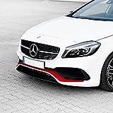 Folientechnik Bayer - 1018 Sportlicher Foliensatz für die Frontschürze Frontstoßstange, A-Klasse W176 AMG A45 - Streifen Stripes Aufkleber Tuning Zubehör (Rot)