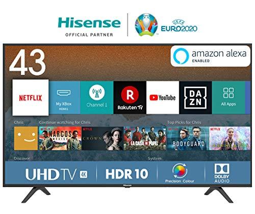 Hisense H43BE7000 108 cm (43 Zoll) Fernseher (4K Ultra HD -
