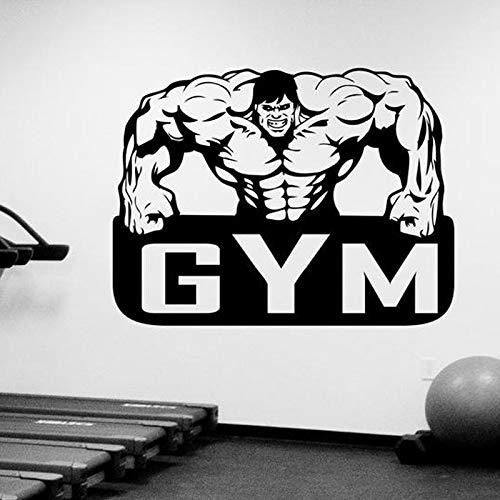 YuanMinglu Gym wandaufkleber Vinyl Aufkleber Emblem benutzerdefinierte Fenster Logo Dekoration Bewegung Menge Fitness Studio Club wandbild 56x42 cm