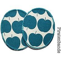 Set 2 Knieflicken Apfel Flicken zum Aufbügeln für Kinder
