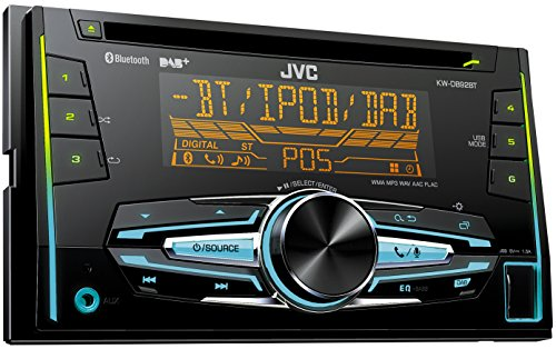 JVC KW-DB92BT USB/CD-Receiver (DAB+, Front-AUX, Bluetooth) schwarz
