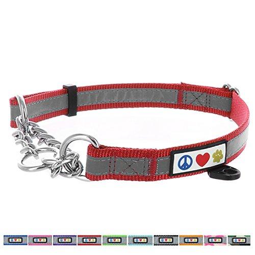 Pawtitas Gehorsamkeitshalsband von Pet, reflektierendes Martingale Hundehalsband. Mittel Rot (2 Zoll Lila Halsband)