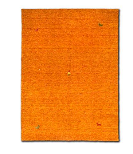 Morgenland Designer Teppich Gabbeh SAHARA 240 x 170 cm Orange Einfarbig Tiermotive Nomaden Teppich...