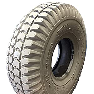 Tyre 3.00-4 (260x85), 4 Ply, grey, Block pattern, for Mobility Scooter, Wheelchair