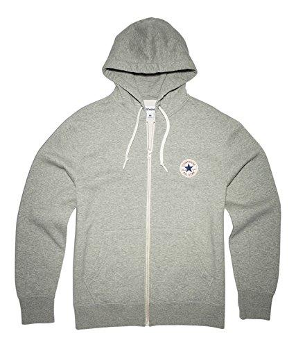 Converse Herren Core Full Zip Hoodie vintage grey heather