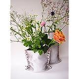 Plünnen - Vase aus Textilbeton