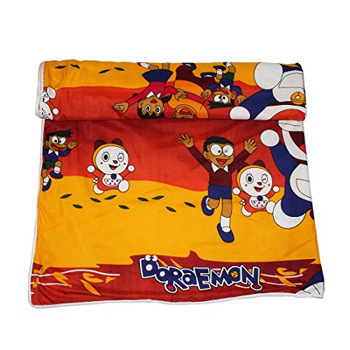 Frabjous Doraemon Printed Polycotton Double Bed Reversible AC Dohar/Blanket/Quilt For...