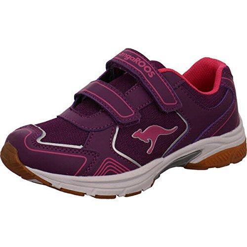 Kangaroos 12000-685, Chaussures spécial sport en salle pour fille - rouge - lilas, 35