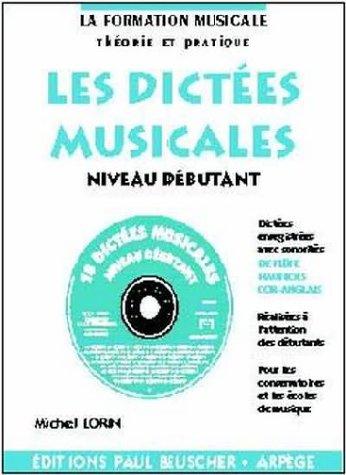 Partition : Dictees musicales avec CD, niveau debutant