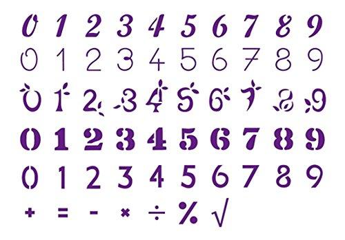 Hat Zwei Hände ADM 120-136Schablone Zahlen A6