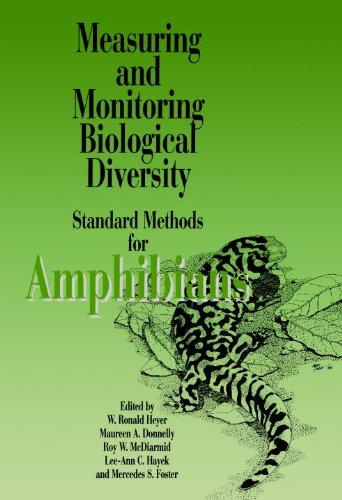 Meas Monit Amphibians Pa: Standard Methods for Amphibians (Standard Methods for Measuring & Monitoring Biological Diversity)