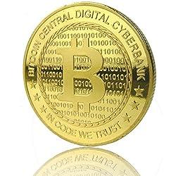 Bitcoin Gold Plated Coin Collectible BTC Coin Art Collection Gift ...