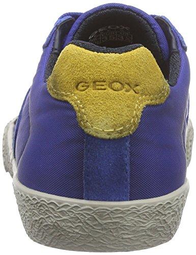 Geox J SMART BOY D - Scarpe da Ginnastica Basse Bambino Multicolore (Multicolor (Royal / Black))
