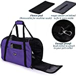 purple pet carrier for dogs cats comfort travel tote soft sided bag with mat Purple Pet Carrier for Dogs Cats Comfort Travel Tote Soft Sided Bag with Mat 51X87qI4V2L