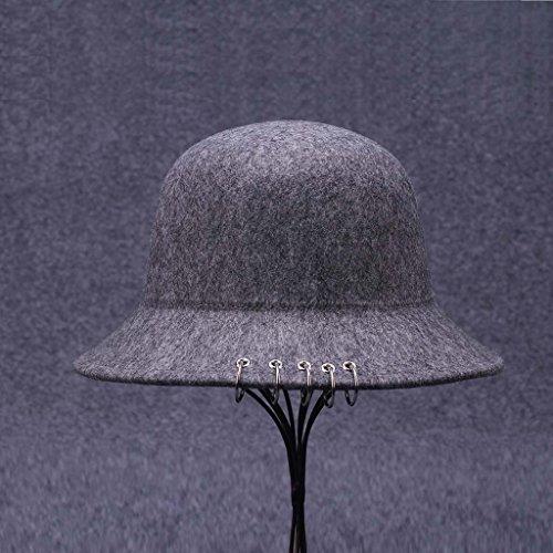 Anneau de fer automne et en hiver Femme Hat Retro Dome Woolly sauvage Pot Hat New Fisherman Hat Tide ( couleur : H ) G