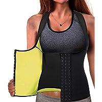 Memoryee Cinturón de Entrenamiento de Neopreno para Mujer Corsé Chaleco de Sudor Pérdida de Peso Cuerpo Ajustable Shaper Workout Tank Tops
