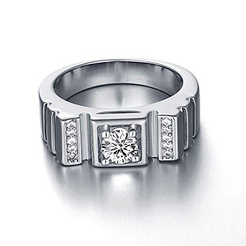 bystar-mens-18k-gp-platinum-plated-diamante-ribbed-band-pinky-ring