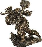 Unbekannt Mächtiger Thor Gott des Donners Figur Sammelfigur bronz. nordischer Gott Odin