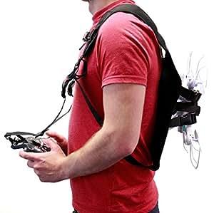 DURAGADGET Imbracatura / Zaino Petto | Spalla Per DJI Drone Phantom 4 | 3 | 2 / Drone 2.0 GHOSTDRONE + Telecomando - Qualità 100%