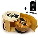 Premium Bartbürste aus Eichenholz mit Wildschweinborsten in einer praktischen Holzbox von IRONBEARD + Gratis Ebook