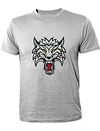 Mister Merchandise Homme Chemise Fun T-Shirt Wolf , Size: XXL, Color: Gris