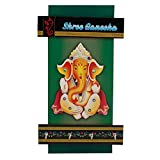 Rvold Crafts Lord Ganesh Wooden Wall Hanging Key Holder with 4 Hooks (Size 11 X 6 inches) - RVSMKH002