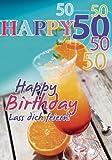 A4 Geburtstagskarte Happy 50 Lass dich feiern