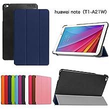 Meimeiwu Huawei MediaPad T1 10 T1-A21W Funda - Ultra Slim Ligera PU Cuero Con Soporte Tablet Funda Caso Case para Huawei MediaPad T1 10 T1-A21W - Dark Blue