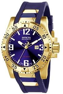 Invicta 6254 - Reloj analógico de caballero de cuarzo con correa de goma azul de Invicta