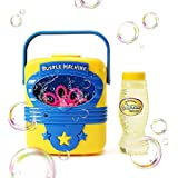 Toys Bhoomi Portable Electric Automatic Bubble Blowing Machine for Birthday Party Fun with 118ml Refill - Non Toxic
