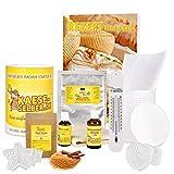 Käse selber Machen - Starter Set WEIHNACHTSEDITION | + Rezeptmagazin + erlesenes Zimttraum Gewürz + weihnachtliches Käseformenset