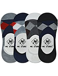 Me Stores Men's Loafer Socks Solid Socks (Pack Of 4) (Multi-Coloured)