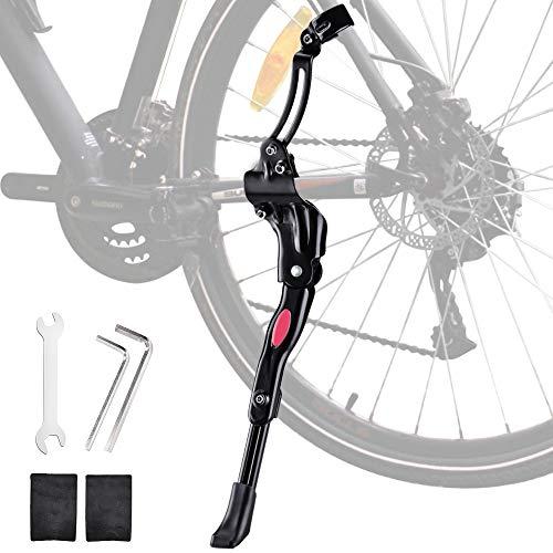 Oziral Fahrradständer für 24-29 Zoll, Faltbarer Einstellbarer Anti-Rutsch Gummi Fuß Aluminiunlegierung Seitenständer für Mountainbike, Rennrad, Fahrräder und Klapprad