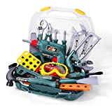 Children's Repair Toolbox Set Toys Play House Simulation Screwdriver Disassembly And Assembly Electric Drill Toy Suitcase A