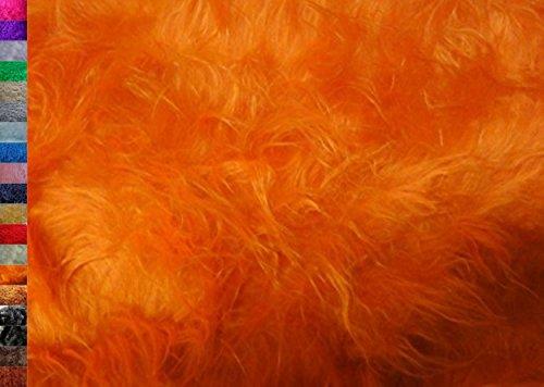 StoffBook ORANGE LANGHAARFELL TEDDYFELL FELL STOFF FELLIMITAT STOFFE, B707 (Orange Fell)