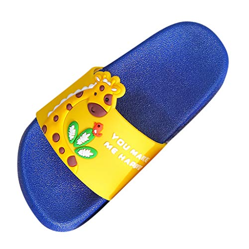 Toddler Infant Kids Unisex Cute Cartoon Giraffe Shoes House Bathroom Slipper Girls Boys Kids Slide Sandals Summer Toddler Flip Flops Soft Beach Slippers Breathable Quick-Drying,Anti-Slip