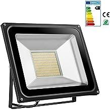 Foco proyector LED 20W/30W/50W/100W/150W/200W para exteriores, 1000LM-14000LM, Blanco frio 6000-6500K/Blanco cálido 2800K-3500K resistente al agua IP65, luz amplia, luz de seguridad Floodlight