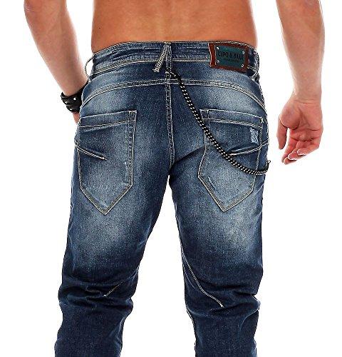 Cipo & Baxx Herren Jeans Hose Dark Blue