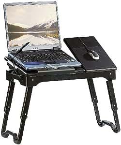 General Office Laptop Tisch: Notebook-Tisch mit LED-Lampe (Laptoptisch mit LED)